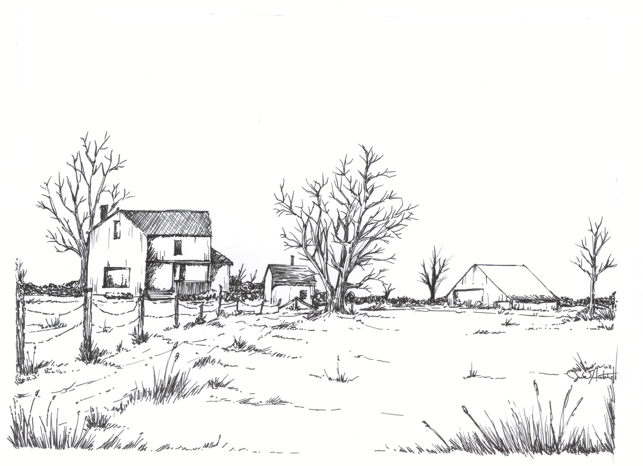 20 beautiful farmhouse drawings house plans 51935 for How to draw a farmhouse